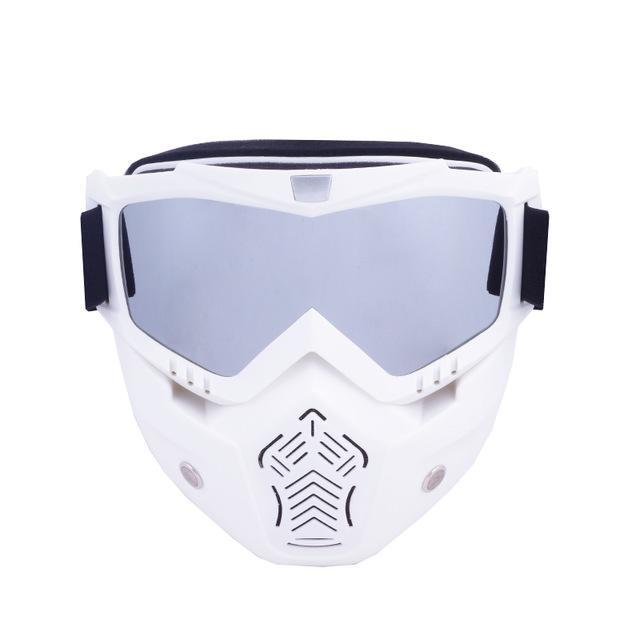 Reedocks New Modular Mask Detachable Goggles Mouth Filter Ski Glass Men Women Windproof Snow-Shooting-ReedoSport Store-S043 Silver Lens-EpicWorldStore.com