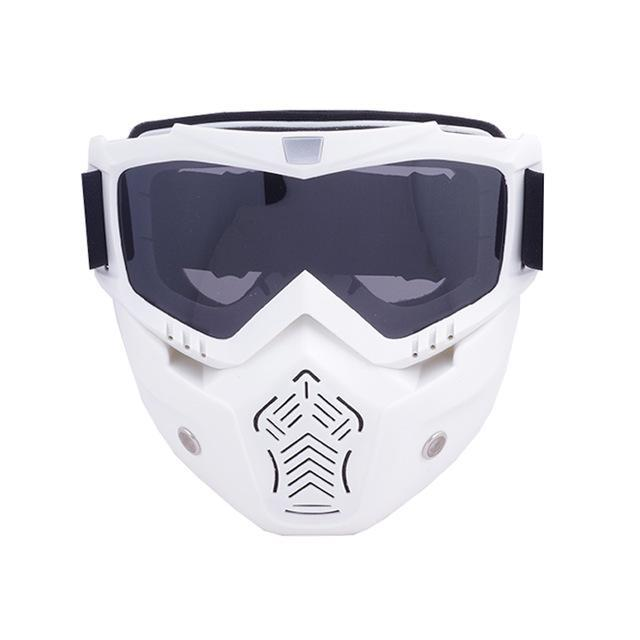 Reedocks New Modular Mask Detachable Goggles Mouth Filter Ski Glass Men Women Windproof Snow-Shooting-ReedoSport Store-S044 Gray Lens-EpicWorldStore.com