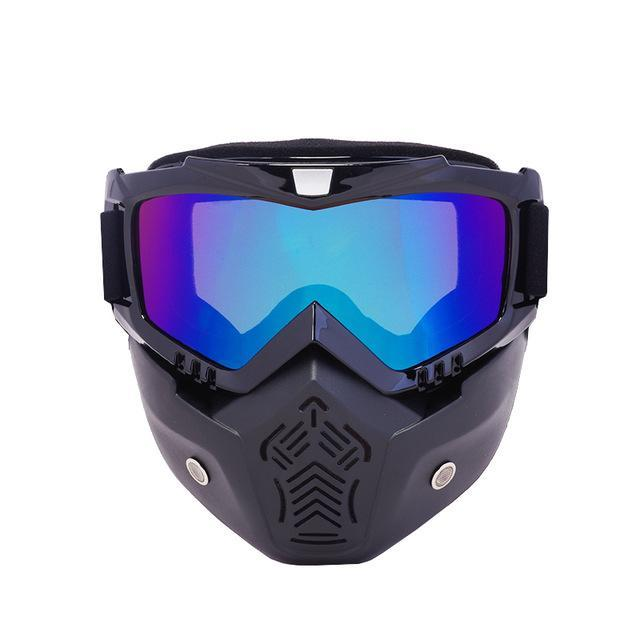 Reedocks New Modular Mask Detachable Goggles Mouth Filter Ski Glass Men Women Windproof Snow-Shooting-ReedoSport Store-S051 Colored Lens-EpicWorldStore.com