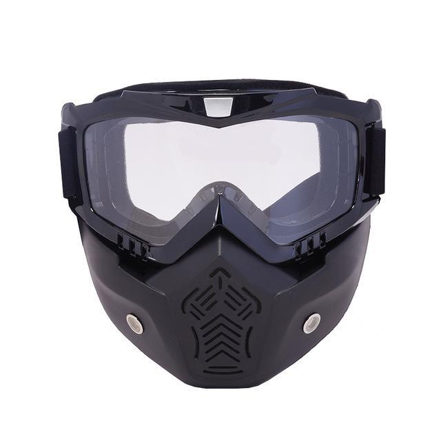 Reedocks New Modular Mask Detachable Goggles Mouth Filter Ski Glass Men Women Windproof Snow-Shooting-ReedoSport Store-S052 Clear lens-EpicWorldStore.com