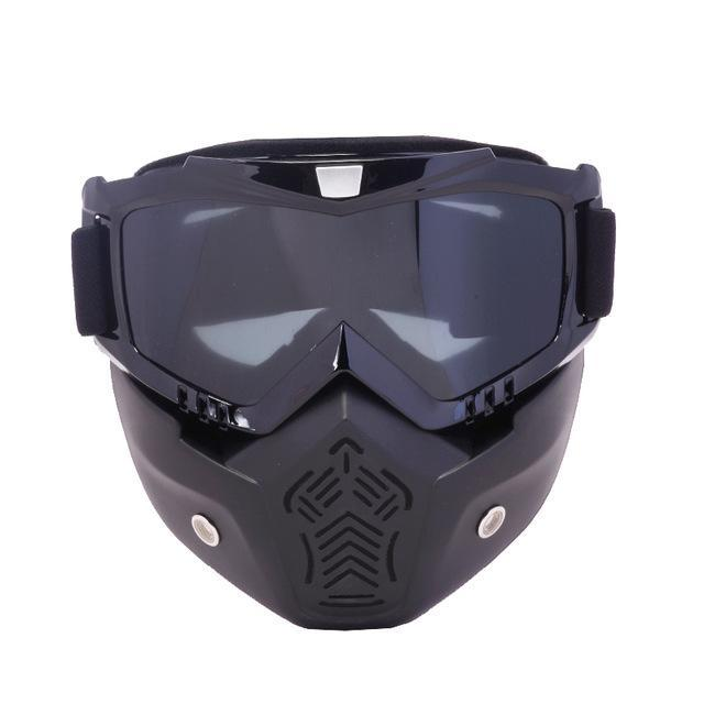 Reedocks New Modular Mask Detachable Goggles Mouth Filter Ski Glass Men Women Windproof Snow-Shooting-ReedoSport Store-S054 Gray Lens-EpicWorldStore.com