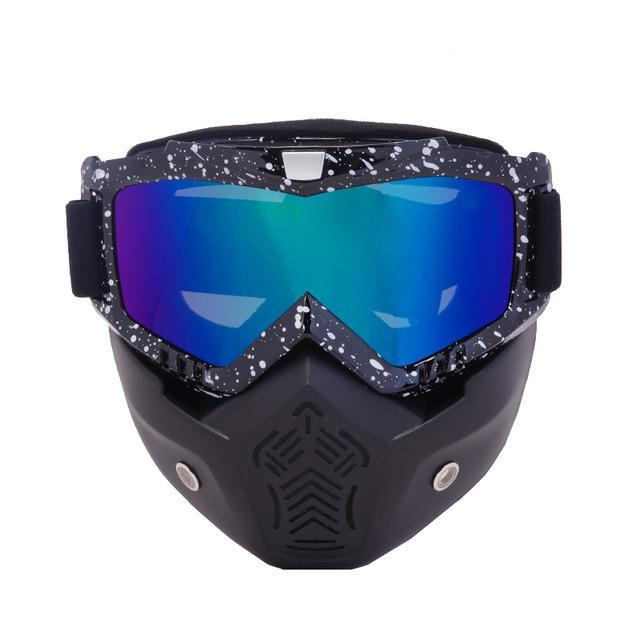 Reedocks New Modular Mask Detachable Goggles Mouth Filter Ski Glass Men Women Windproof Snow-Shooting-ReedoSport Store-S061 Colored Lens-EpicWorldStore.com