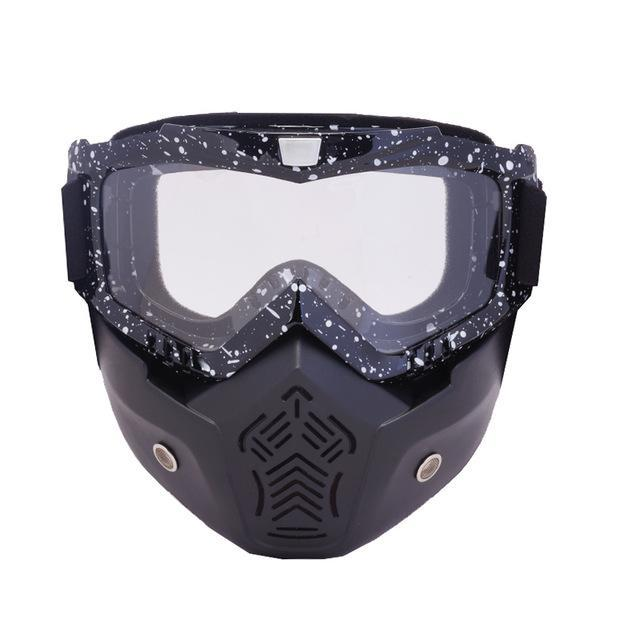 Reedocks New Modular Mask Detachable Goggles Mouth Filter Ski Glass Men Women Windproof Snow-Shooting-ReedoSport Store-S062 Clear lens-EpicWorldStore.com