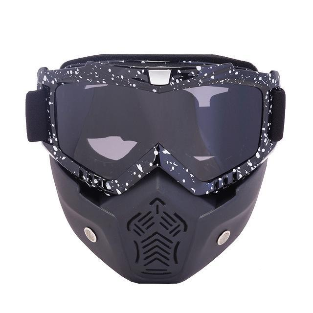 Reedocks New Modular Mask Detachable Goggles Mouth Filter Ski Glass Men Women Windproof Snow-Shooting-ReedoSport Store-S064 Gray Lens-EpicWorldStore.com