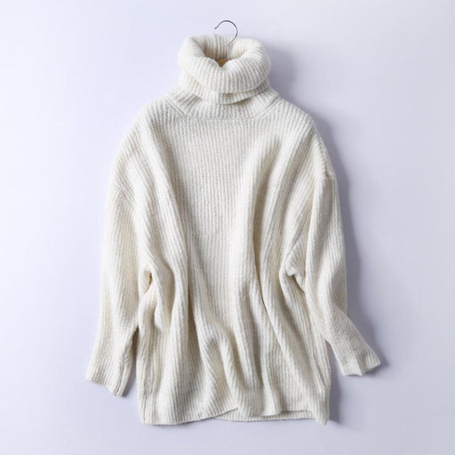 Rejina Pyo Women Oversize Basic Knitted Turtleneck Sweater Female Solid Turtleneck Collar-Sweaters-Rejina Pyo Official Store-Beige-S-EpicWorldStore.com