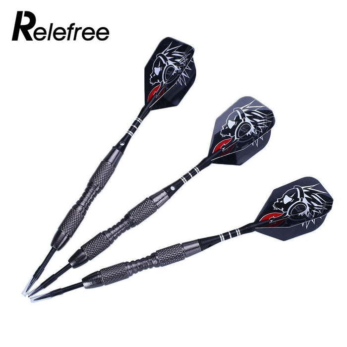 Relefree 3Pcs Steel Tips Darts 22G Shafts Flight Harrow Point Wing Barrel Throwing Darts Accessories-Entertainment-Outdoor Recreation Sport Store-EpicWorldStore.com