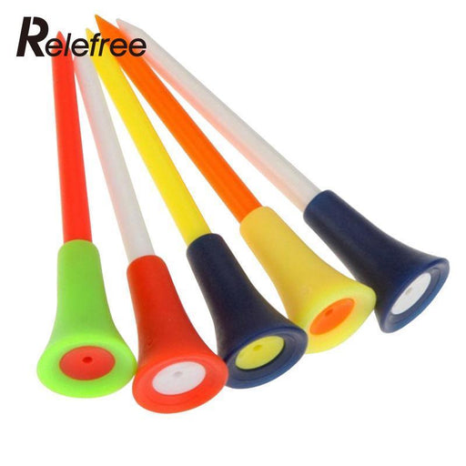 Relefree 50 Pcs Golf Tools Multicolor Plastic Golf Tees Golf Rubber Cushion Top Golf Equipment-Golf-U & I Store-EpicWorldStore.com