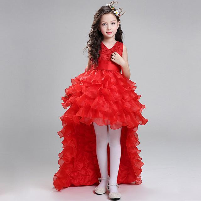 0a0570cccfeae Retail Flower Girl Dresses For Weddings Elegant Trailing Gown Girls  Princess Dress Kids Evening