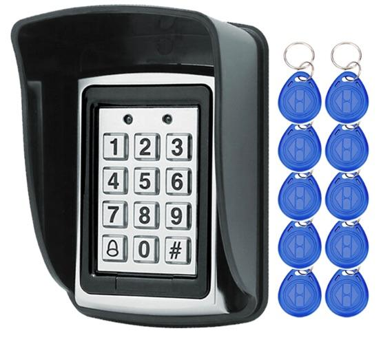 Rfid Metal Access Control Keypad With Waterproof Cover Contactless Door Controller Electric Security-OBO HANDS Official Store-keypad cover 10 keys-EpicWorldStore.com