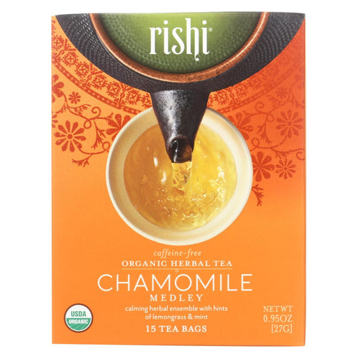 Rishi Herbal Blend - Chamomile Medley - Case Of 6 - 15 Bags-Eco-Friendly Home & Grocery-Rishi-EpicWorldStore.com