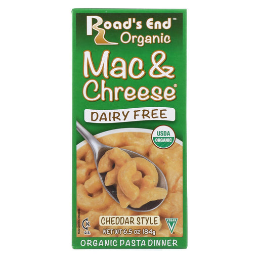 Road'S End Organics Mac And Cheese Pasta - Cheddar Style - Case Of 12 - 6.5 Oz.-Eco-Friendly Home & Grocery-Road's End Organics-EpicWorldStore.com