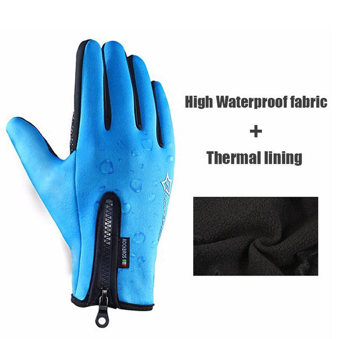 RockBros Cycling Sport Winter Thermal Warm Touch Screen Full Finger Gloves Lot