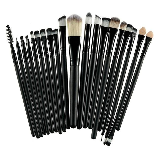 Rosalind 20Pcs Professional Makeup Brushes Set Powder Foundation Eyeshadow Make Up Brushes Cosmetics-Makeup-Rosalind Beauty Shop-Black and Black-EpicWorldStore.com