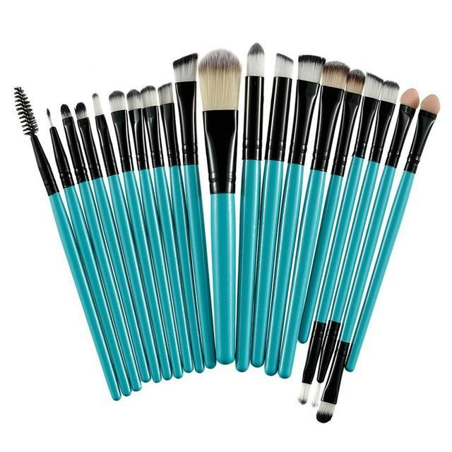 Rosalind 20Pcs Professional Makeup Brushes Set Powder Foundation Eyeshadow Make Up Brushes Cosmetics-Makeup-Rosalind Beauty Shop-Black and Green-EpicWorldStore.com