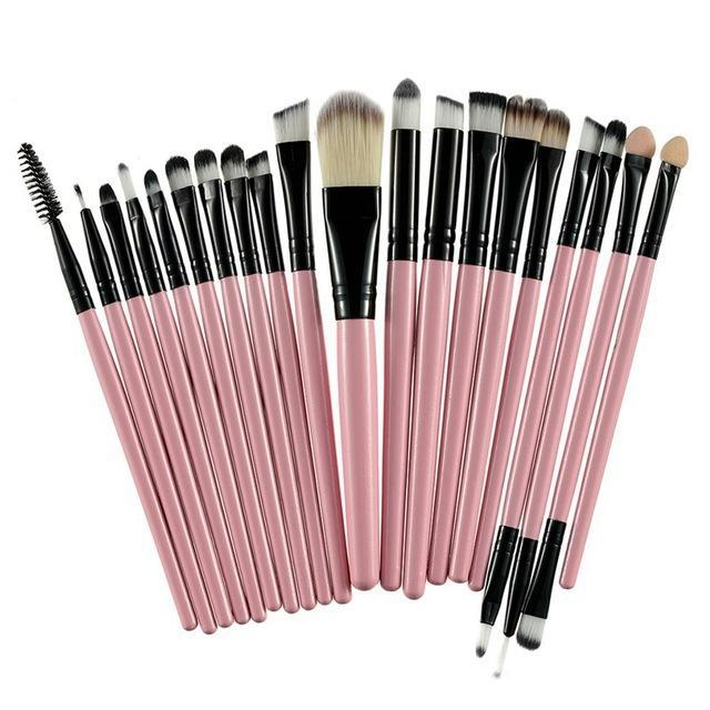 Rosalind 20Pcs Professional Makeup Brushes Set Powder Foundation Eyeshadow Make Up Brushes Cosmetics-Makeup-Rosalind Beauty Shop-Black and Pink-EpicWorldStore.com