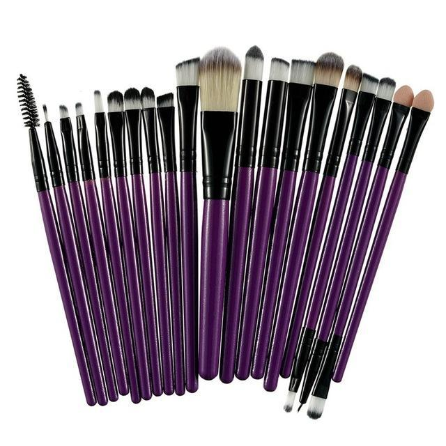 Rosalind 20Pcs Professional Makeup Brushes Set Powder Foundation Eyeshadow Make Up Brushes Cosmetics-Makeup-Rosalind Beauty Shop-Black and Purple-EpicWorldStore.com