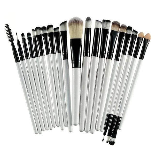 Rosalind 20Pcs Professional Makeup Brushes Set Powder Foundation Eyeshadow Make Up Brushes Cosmetics-Makeup-Rosalind Beauty Shop-Black and White-EpicWorldStore.com