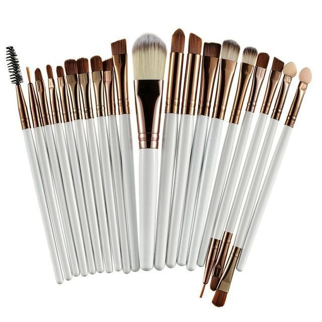 Rosalind 20Pcs Professional Makeup Brushes Set Powder Foundation Eyeshadow Make Up Brushes Cosmetics-Makeup-Rosalind Beauty Shop-Coffee and White-EpicWorldStore.com