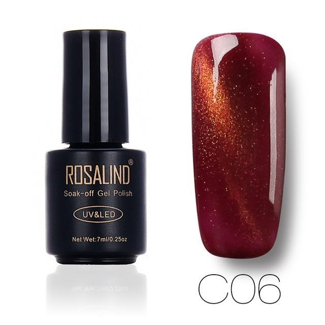 Rosalind 7Ml Black Bottle 3D Cat Eyes Magnet Nail Gel Polish Effect C01-30 Uv Led Gel Nail Polish-Nails & Tools-Rosalind Official Store-C06-EpicWorldStore.com