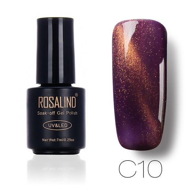 Rosalind 7Ml Black Bottle 3D Cat Eyes Magnet Nail Gel Polish Effect C01-30 Uv Led Gel Nail Polish-Nails & Tools-Rosalind Official Store-C10-EpicWorldStore.com