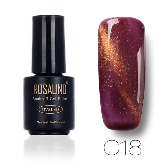 Rosalind 7Ml Black Bottle 3D Cat Eyes Magnet Nail Gel Polish Effect C01-30 Uv Led Gel Nail Polish-Nails & Tools-Rosalind Official Store-C18-EpicWorldStore.com