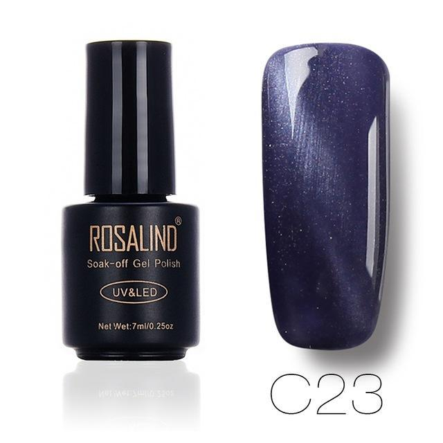 Rosalind 7Ml Black Bottle 3D Cat Eyes Magnet Nail Gel Polish Effect C01-30 Uv Led Gel Nail Polish-Nails & Tools-Rosalind Official Store-C23-EpicWorldStore.com
