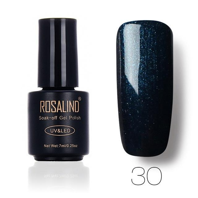 Rosalind 7Ml Gel Lacquer 58 Pure Colors Varnish Nail Art Vernis Uv Led Semi Permanent Soak-Off Gel-Nails & Tools-ALISTAR-30-EpicWorldStore.com