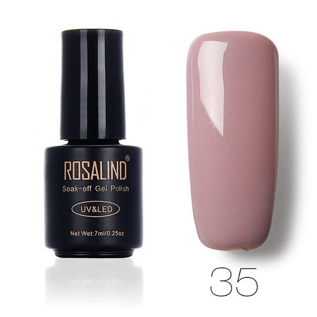 Rosalind 7Ml Gel Lacquer 58 Pure Colors Varnish Nail Art Vernis Uv Led Semi Permanent Soak-Off Gel-Nails & Tools-ALISTAR-35-EpicWorldStore.com
