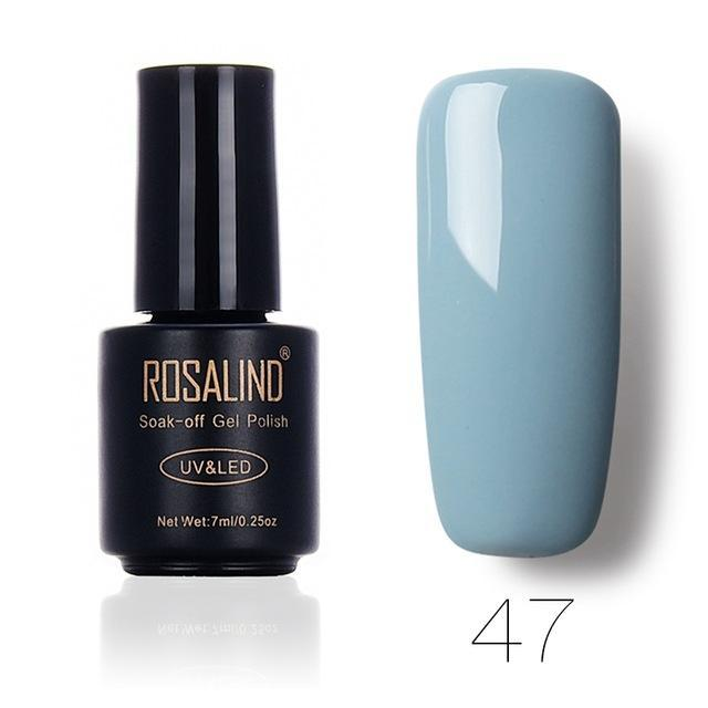 Rosalind 7Ml Gel Lacquer 58 Pure Colors Varnish Nail Art Vernis Uv Led Semi Permanent Soak-Off Gel-Nails & Tools-ALISTAR-47-EpicWorldStore.com