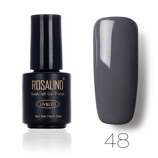 Rosalind 7Ml Gel Lacquer 58 Pure Colors Varnish Nail Art Vernis Uv Led Semi Permanent Soak-Off Gel-Nails & Tools-ALISTAR-48-EpicWorldStore.com
