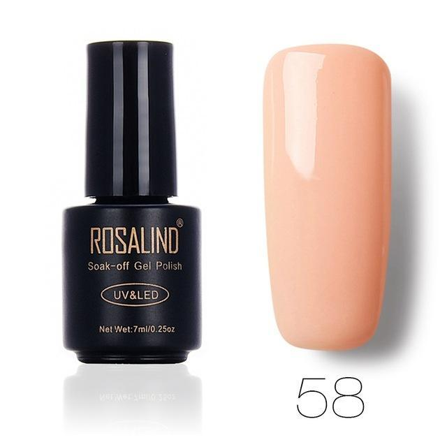 Rosalind 7Ml Pure Color Series Gel Nail Polish 31-58 Gel Varnishes Long-Lasting Design For Nails Gel-Health Care-RSTYLE Store-58-EpicWorldStore.com