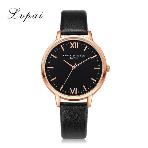 Rose Gold Lvpai Brand Leather Watch Luxury Classic Wrist Watch Casual Simple Quartz-Women's Watches-77 Queens Store-Pink Rose Gold-EpicWorldStore.com