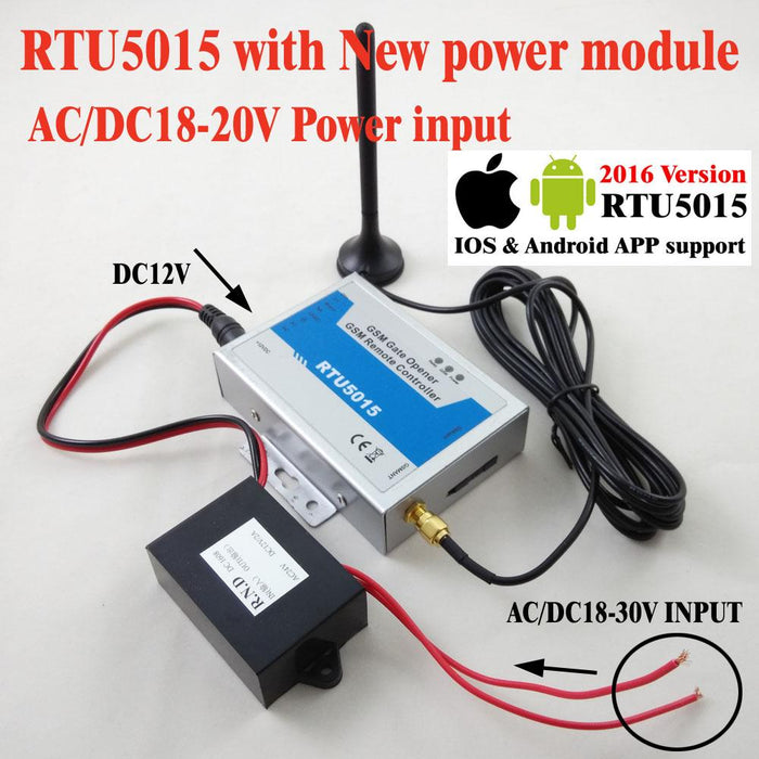 Rtu5015 Automatic Gsm Gate Opener Switch Remote Access Control Roller Gate  Opener 1Output,2 Inputs