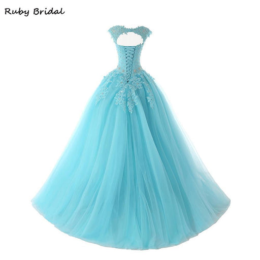 Ball Gown Long Sleeve Beaded Crystal Applique Watteau: Bealegantom New Quinceanera Dresses Ball Gown Tulle Beaded