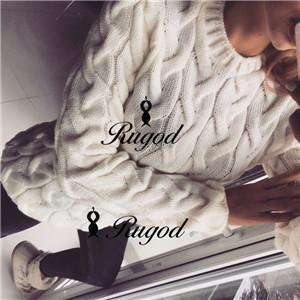 Rugod Spring Twisted Knitted Sweater For Women Multi Colors O Neck Long Sleeve Loose-Sweaters-Hot Womens Fahion Store-ivory-EpicWorldStore.com