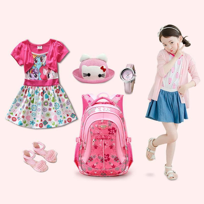 Ruipai School Bags Backpack Schoolbag Kids Lovely Backpacks For Children Teenage Girls-Kids & Baby's Bags-RUIPAI Official Store-Black Small-EpicWorldStore.com