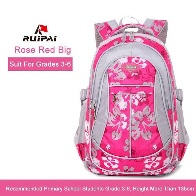 Ruipai School Bags Backpack Schoolbag Kids Lovely Backpacks For Children Teenage Girls-Kids & Baby's Bags-RUIPAI Official Store-Rose Red Big-EpicWorldStore.com