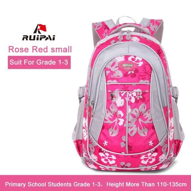 Ruipai School Bags Backpack Schoolbag Kids Lovely Backpacks For Children Teenage Girls-Kids & Baby's Bags-RUIPAI Official Store-Rose Red Small-EpicWorldStore.com