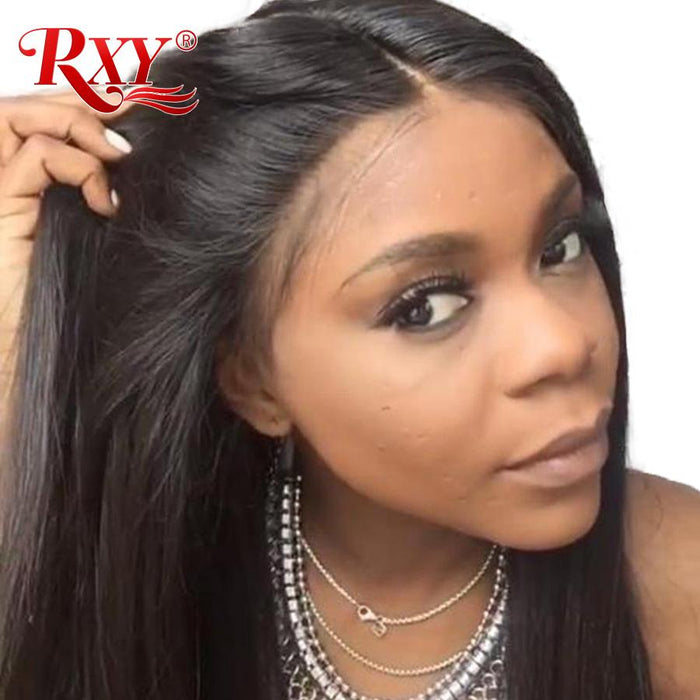 Rxy 360 Lace Frontal Wig Pre Plucked With Baby Hair Straight Lace Front  Human Hair Wigs a848995f3