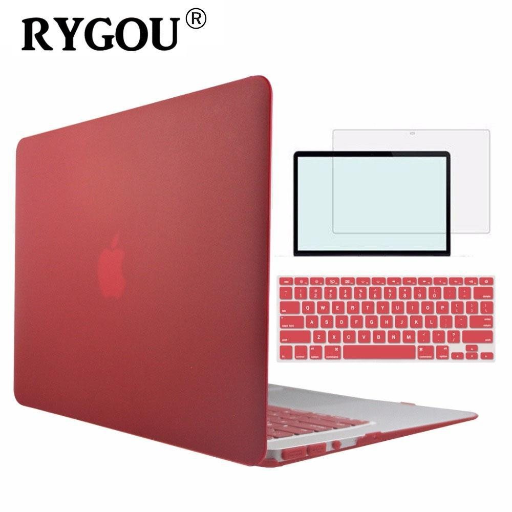 premium selection 51416 ee31d Rygou Clear Matte Hard Case For Apple Macbook Air Pro Retina 11 12 13 15  Laptop Cases For Mac Book