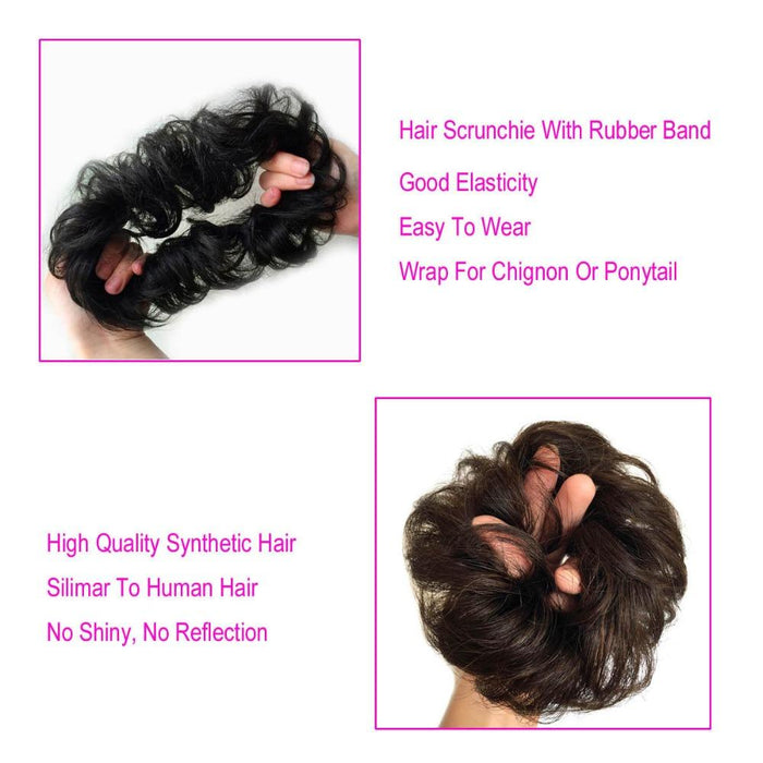 S Noilite Synthetic Hair Chignons Elastic Scrunchie Hair Extensions