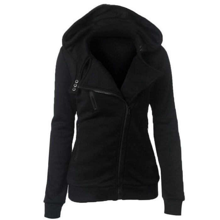 S-Xxl 4 Color New Autumn&Winter Women Hoodies Sweatshirts Zipper V Neck Long Sleeve Warm Female-Hoodies & Sweatshirts-Shuyun Store-Black-S-EpicWorldStore.com