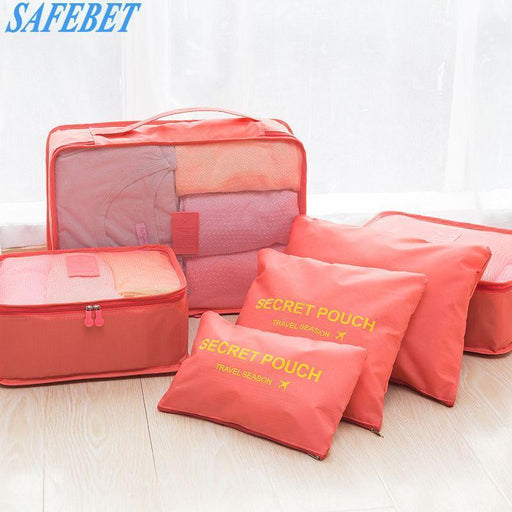Safebet 6 Pcs Travel Portable Storage Bag Set Waterproof Multifunction Clothing Shoes-Home Storage & Organization-YI WU Store-Green-EpicWorldStore.com