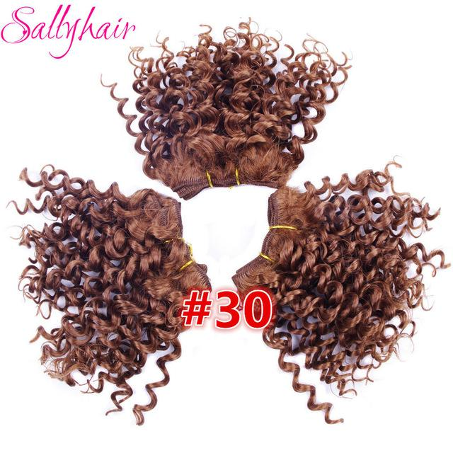 Sallyhair Afro Kinky Curly High Temperature Synthetic Hair Weft