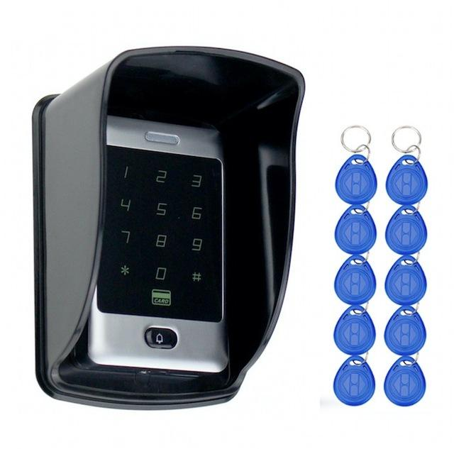 Sant Alone Rfid Access Control Touch Metal Keypad With Waterproof/Rainproof Cover 10 Keychains For-OBO HANDS Official Store-C30 With Cover Keys-EpicWorldStore.com