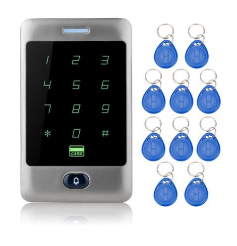 Sant Alone Rfid Access Control Touch Metal Keypad With Waterproof/Rainproof Cover 10 Keychains For-OBO HANDS Official Store-C30 With Keys-EpicWorldStore.com