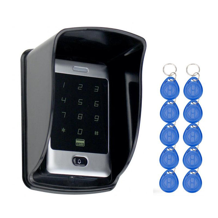 Sant Alone Rfid Access Control Touch Metal Keypad With Waterproof/Rainproof Cover 10 Keychains For-OBO HANDS Official Store-Cover-EpicWorldStore.com