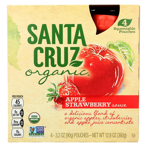 Santa Cruz Organic Apple Sauce - Strawberry - Case Of 6 - 3.2 Oz.-Eco-Friendly Home & Grocery-Santa Cruz Organic-EpicWorldStore.com