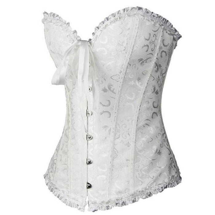 Sapubonva Corsets Stylish Womens Plus Size Corsets And Bustiers Overbust Gothic Strapless Brocade-Bustiers & Corsets-Shop1491672 Store-Black-S-EpicWorldStore.com