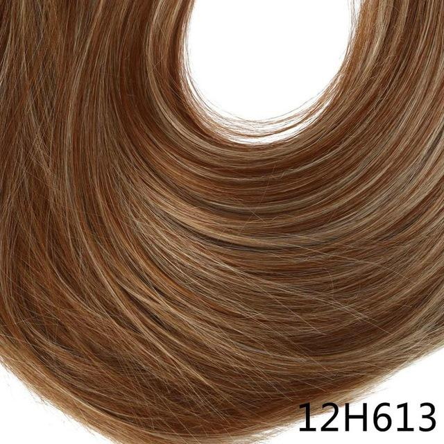 "Sarla Long Straight 24""& 28"" Synthetic Wrap Around Ponytail Hair Extensions High Temperature Fiber-SARLA Official Store-12H613-24inches-EpicWorldStore.com"